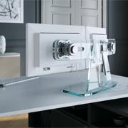 Glashalterung für Monitor