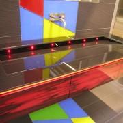 Badezimmer 03 farbiges Glaswaschbecken