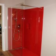 Duschtrennwand inkl. Wandverglasung & Glasboden