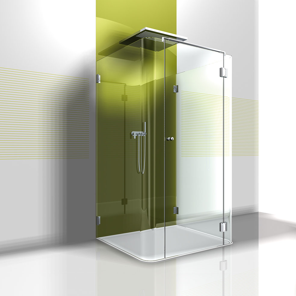 glas u form dusche beispiel einer 3 teiligen dusche iii visioglas. Black Bedroom Furniture Sets. Home Design Ideas