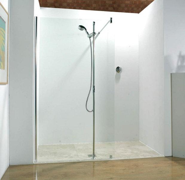 Glas Walk-In Dusche - Beispiel einer 1 teiligen Dusche in ...