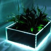 Glasblumenkasten mit LED Beleutung