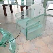 Glastsich und Glasstuhl UV-Verklebung