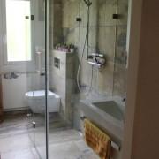U-Form Dusche l Glas 8 mm ESG
