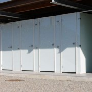 WC Kabinen l Camping Bollingen l Glas VSG l Farbe Polarweiss