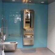 Wandverglasung Bahnhof Winterthur l IV Kabine l Glas 8 mm ESG