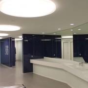 Wandverglasung Bahnhof Winterthur l Kristallspiegel 6 mm l Glas 8 mm ESG