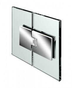 Duschpendelturband, Glas-Glas 180°, beidseitig 90° offnend, Nulllage einstellbar, fur 6-10mm Glasstarke