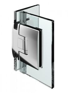 Duschpendelturband Glas-Glas 90°, beidseitig 90° offnend, Nulllage einstellbar, fur 8-10mm Glasstarke