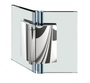 Duschturband Glas-Glas 135°, einseitig 200° nach aussen hin offnend, durchgehende Dichtung, fur 6-10mm Glasstarke