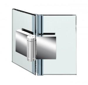 Duschturband Glas-Glas 135° mit Nulllage, einseitig 225° nach aussen hin offnend, durchgehende Dichtung, fur 6-10mm Glasstarke