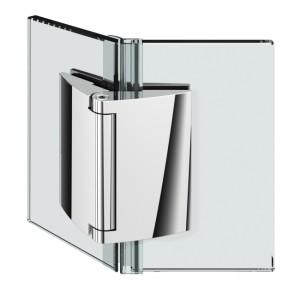 Duschturband Glas-Glas 135°, selbstschliessend, 135° nach aussen hin offnend, durchgehende Dichtung, fur 6-10mm Glasstarke