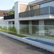 Glasbrustung mit Wandprofil l Glas 21,52 mm VSG