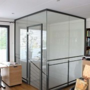 Glastrennwand mit Turzarge l Glas 10 mm ESG