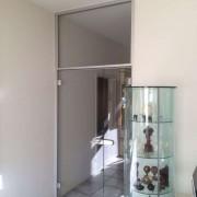 Glastrennwand mit Turzarge und Oberlichte l Glas 8 m ESG Klarglas
