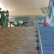Treppengelander mit Bodenprofil l Glas VSG 17,52 mm