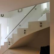 Treppengelander mit Punkthaltern l Glas VSG 12,76 mm