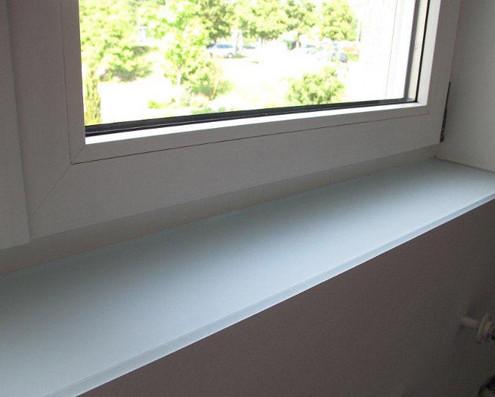 Fensterb nke aus glas jetzt bei visioglas - Fensterbank innen ...